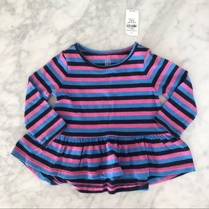 Baby Gap girl long sleeve striped top 6-12 months